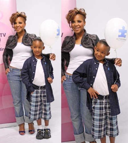 Toni Braxton And Son Diezel Get Shaved And Volunteer